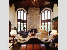 A Modern Castle Mediterranean Living Room cedar
