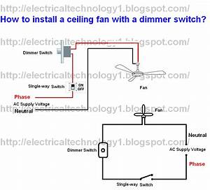 How to install ceiling fan with a dimmer switch part