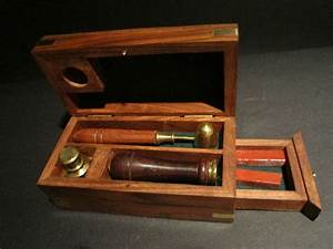 antique vintage style wax seal kit wood box brass spoon With wax seal letter kit
