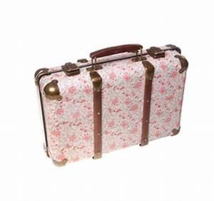 Valise Vintage Pas Cher : sass and belle valise r tro fleuri roses ~ Teatrodelosmanantiales.com Idées de Décoration