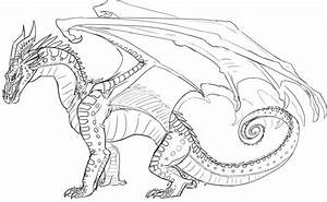 Icewing Wings Of Fire Dragons Coloring Pages