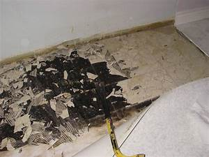 Cleaning how was this subfloor cleaned home for How to remove plastic floor tiles