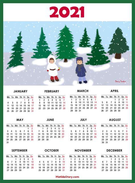 calendar  printable  page monday start