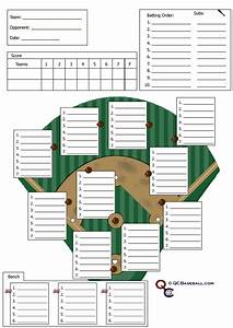 softball defensive lineup template caroldoey With t ball lineup template