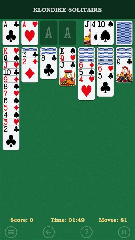klondike solitaire  classic patience card game