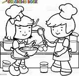 Coloring Cooking Children Chef Kochen Apron Cuire Faisant Enfants Kinder Ausmalbilder Coloriage Livre Koken Boekpagina Kleurende Kinderen Seite Libro Cucinano sketch template