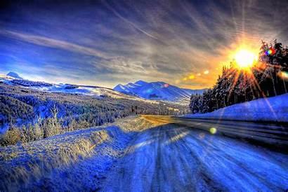 Nieve Sol Paisaje Alaska