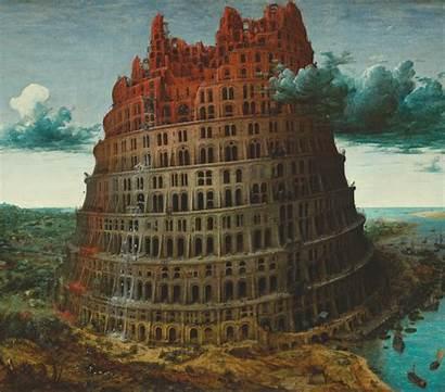 Babel Arte Tower Torre Giphy Obras Pieter
