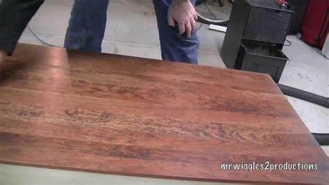 refinishing  wood table youtube