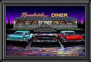 Roadside Diner Mini LED Lighted Poster