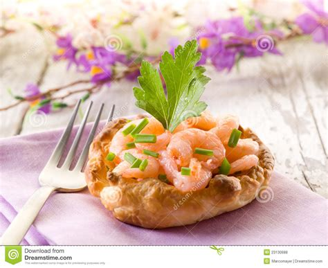 canapes with prawns canape with shrimp royalty free stock photos image 23130688