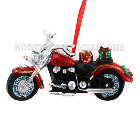 motorcycle with gifts christmas ornament tree new kurt s
