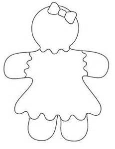 gingerbread man running coloring page images