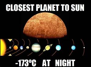 The closest planet to the sun in our solar system - Funny ...