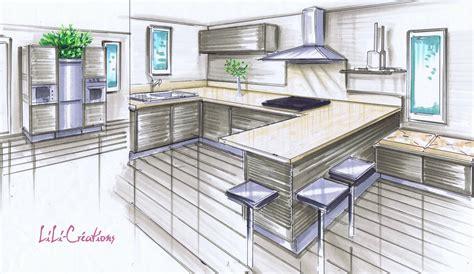perspective cuisine dessin comment choisir sa cuisine suite le de elise fossoux