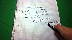 Wie Quadratmeter Berechnen : kegelberechnung oberfl che eines kegels berechnen youtube ~ Themetempest.com Abrechnung