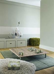 Vert D Eau Couleur : peinture salon vert et blanc ambiance zen en 2019 home ~ Mglfilm.com Idées de Décoration