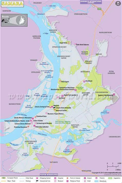 Samara Map, Samara Russia
