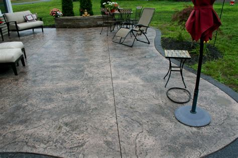 sted concrete patio with pit cost home design ideas