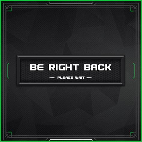 Twitch Be Right Back Screen Template How To by Granite Animated Twitch Scenes Twitch Scenes Twitch Gfx