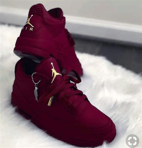 Red Burgundy Jordan Shoes Sneakers Fashion