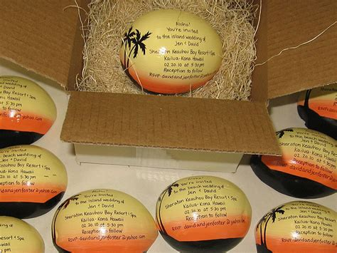 Painted coconuts for unique gifts invitations marketing