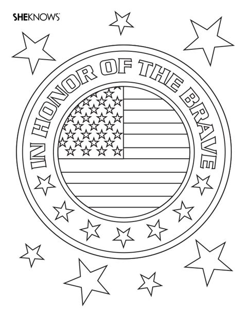 badge  honor  printable coloring pages