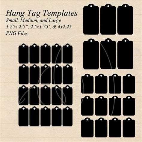 hangtag template download instant download hang tag gift tag templates small