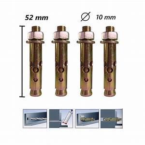 Vis A Beton : 4x vis cheville b ton 52mm frapper 10mm diam tre bfsat ~ Voncanada.com Idées de Décoration