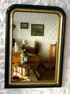 Miroir Ancien Le Bon Coin : miroir ancien noir et dor d 39 poque louis philippe ~ Teatrodelosmanantiales.com Idées de Décoration