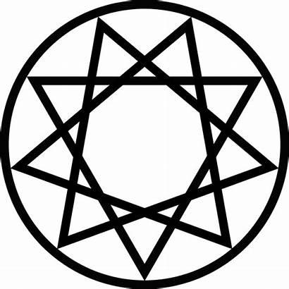 Symbols Nonagram Symbol Satan Satanic Goat Temple