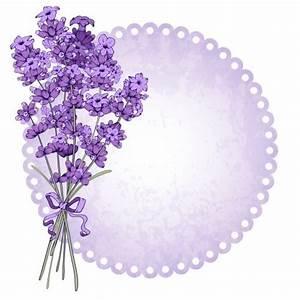 Floral vintage background with lavender, vector » NitroGFX ...