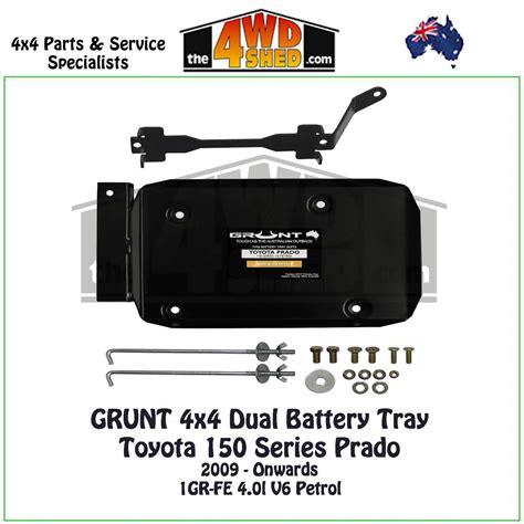 150 series prado 4 0l petrol dual battery tray grunt 4x4