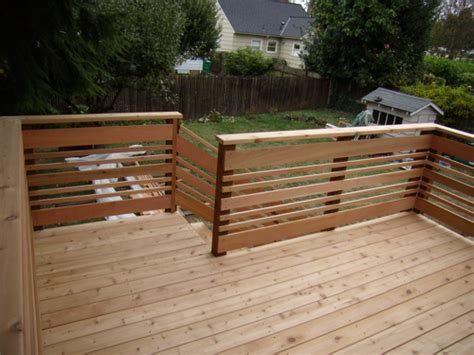 Horizontal Deck Railing Plans by Horizontal Deck Railing Douglas Shepherd
