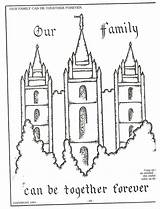 Lds Coloring Pages Temple Nursery Primary Forever Families Together Salt Lake Mormon Colouring Children Church Template Activities Simple Temples Printable sketch template