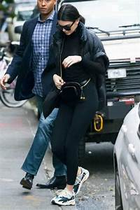 Kendall Jenner wearing Givenchy Gv7011 Square Sunglasses Yeezy Wave Runner 700 Sneakers Maison ...