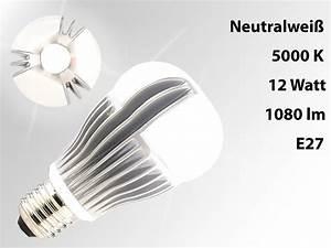 Dimmbare Led E27 : luminea led lampe neutralweiss dimmbare premium led lampe e27 12 watt lm wei 5000 k ~ Markanthonyermac.com Haus und Dekorationen