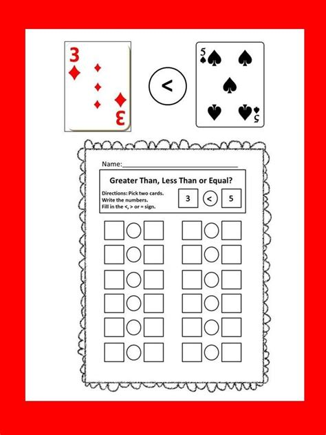 greater     equal   simple card