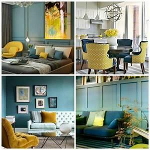 Deco Bleu Canard : d co bleu et jaune du bleu canard du bleu marine du bleu p trole etc ~ Teatrodelosmanantiales.com Idées de Décoration