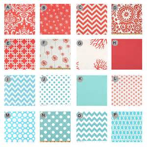 custom crib bedding coral and aqua 2 by gigglesixbaby on etsy