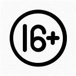 Age Icon Plus Restriction Sixteen Cinema Icons