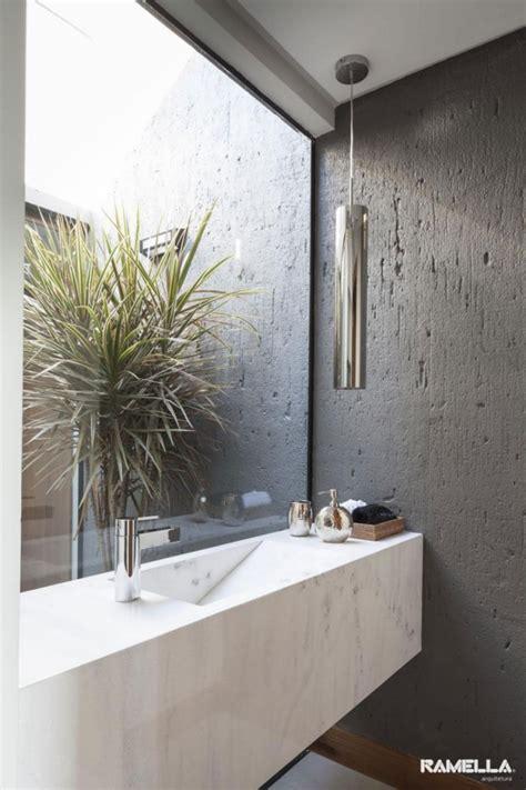 Modernes Badezimmer Beton by Modernes Bad Marmor Waschtisch Glaswand Beton