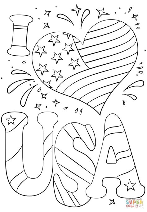 love usa coloring page  printable coloring pages
