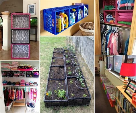 clever ideas  recycle plastic milk crates