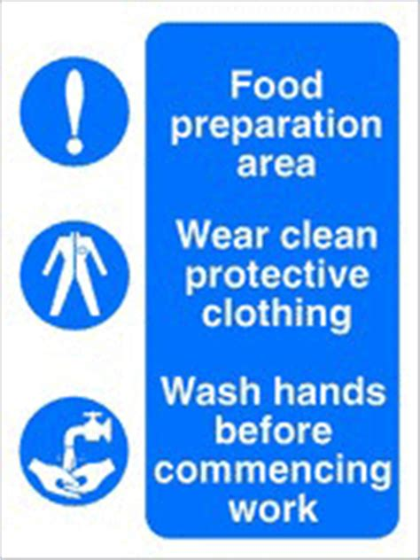 food preparation area health  safety sign ssd