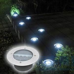 Lumiere Jardin Solaire : 3led lampe solaire souterrain inoxydable jardin cour ~ Premium-room.com Idées de Décoration