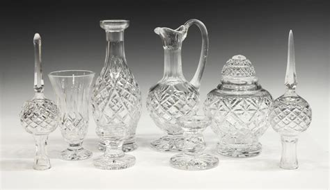 waterford crystal table ls 8 waterford cut crystal cabinet table items august