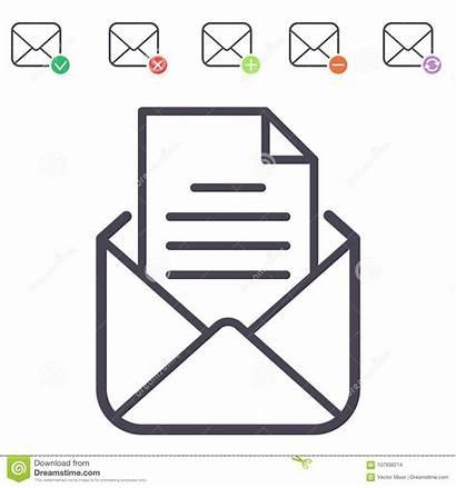 Blank Address Correspondence Envelope Mailbox Communication Outline