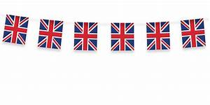 Great Britain Party Union Jack Fabric Bunting 5m - Party Ark