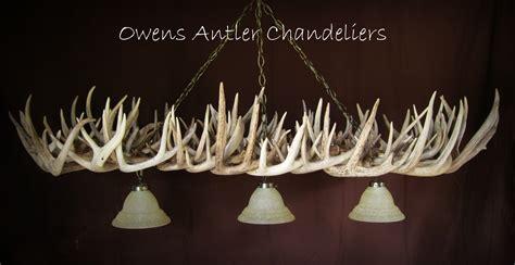 lamp deer horn chandelier  authentic